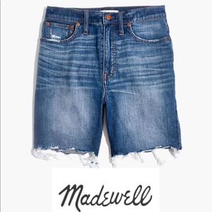 Madewell High-Rise Mid-Length Shorts Size 24 NWT